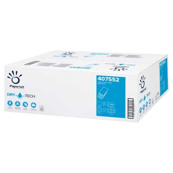 Papernet ręczniki papierowe, składane, Superior W-Fold Hand Towel Extra Soft TAD 407552 białe