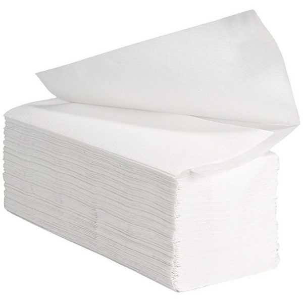 VIPpaper ręczniki papierowe, składane V-FOLD PREMIUM, ręczniki typu ZZ, celuloza V-2301, białe