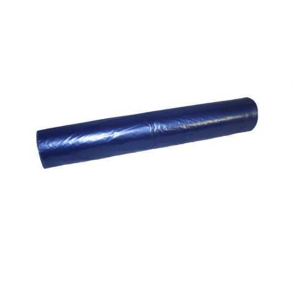 Worki na śmieci 120 litrów LDPE z mocnej folii niebieskie w rolce 25 sztuk