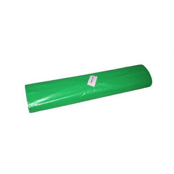 Worki na śmieci 120 litrów LDPE z mocnej folii zielone w rolce 25 sztuk