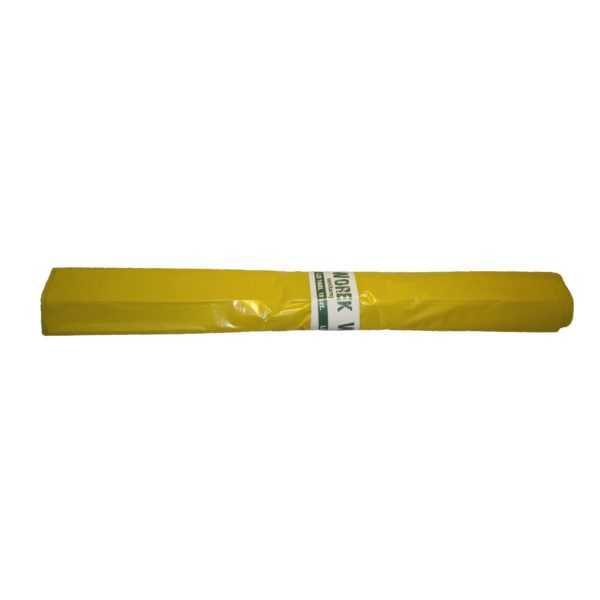 Worki na śmieci 160 litrów LDPE z mocnej folii żółte w rolce 10 sztuk