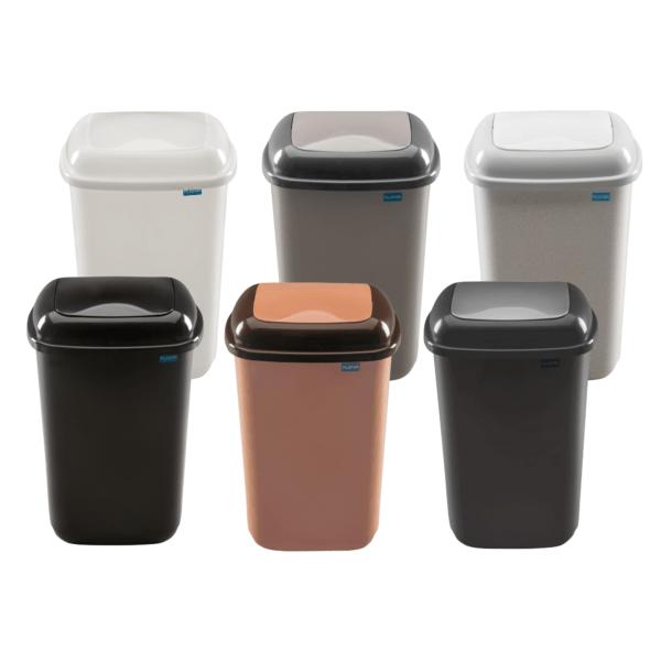 Plafor kosz na śmieci plastikowy, uchylny QUATRO