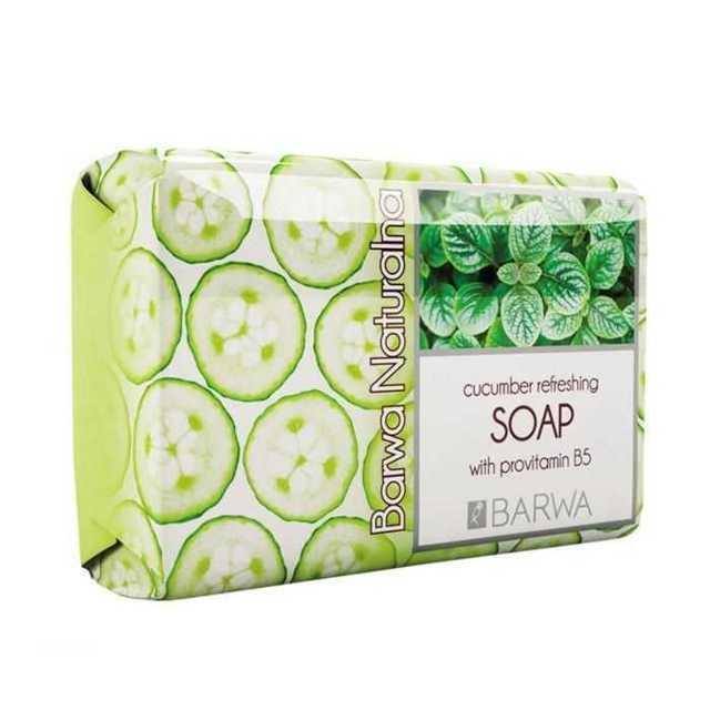 barwa barwa naturalna odswiezajace mydlo ogorkowe z prowitamina b5 100 g