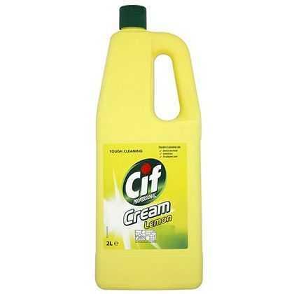 cif professional cream lemon kitchen cleaner 2 litres