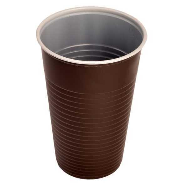 Kubek plastikowy brązowy, wykonany z tworzywa PP 200ml 100 sztuk