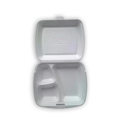 MenuBox opakowanie styropianowe trójdzielne z wieczkiem 125 sztuk