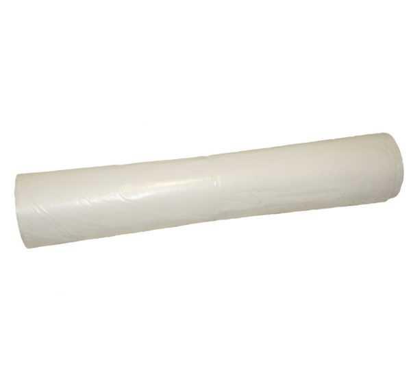 Worki na śmieci 120 litrów LDPE z mocnej folii białe w rolce 25 sztuk
