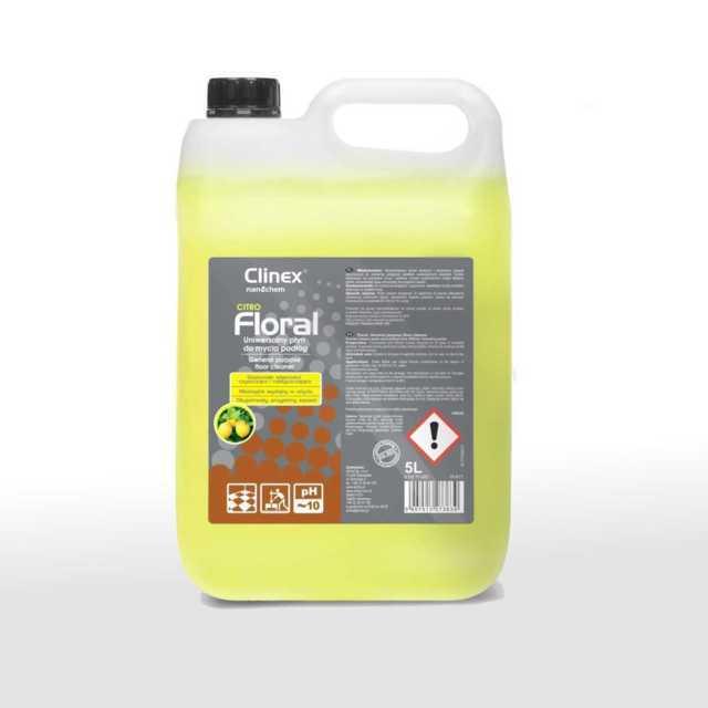 CLINEX FLORAL CITRO uniwersalny płyn do mycia podłóg 5 litrów