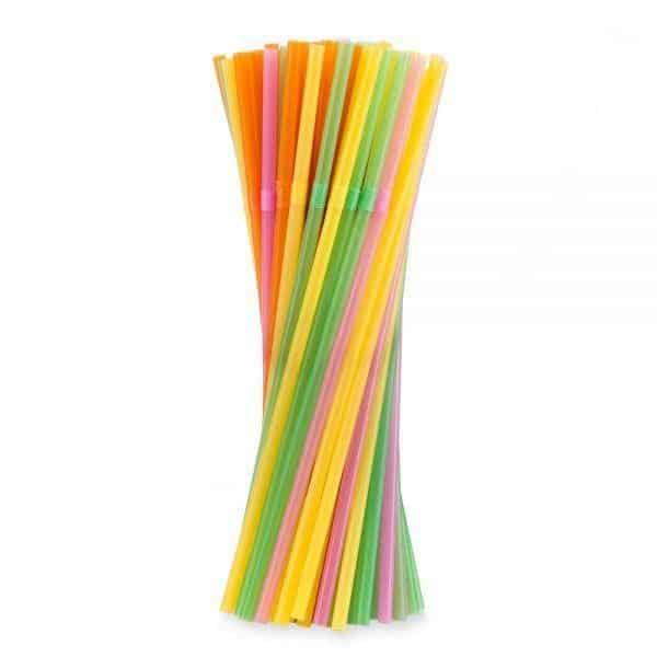 Kolorowa słomka, łamana do napojów i drinków 1000 sztuk