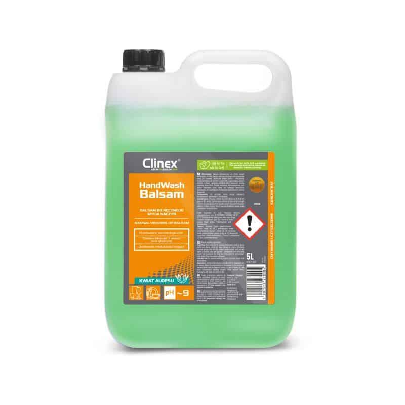 Płyn do mycia naczyń kuchennych z metalu, szkła i tworzyw sztucznych Clinex Hand Wash Balsam 5L