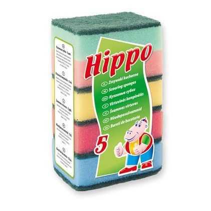 Zmywaki kuchenne HIPPO XP495, gąbki kuchenne 5szt.