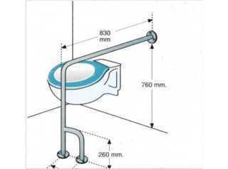 AV50830 wymiary poręczy podłogowej