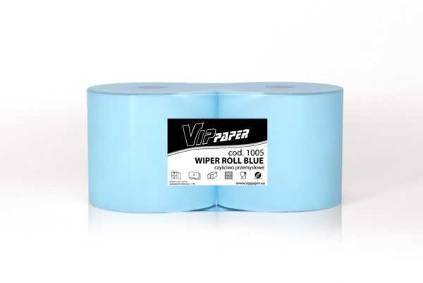 VIPpaper czyściwo przemysłowe celulozowe, niebieskie WIPER ROLL BLUE V-1005 220 metrów