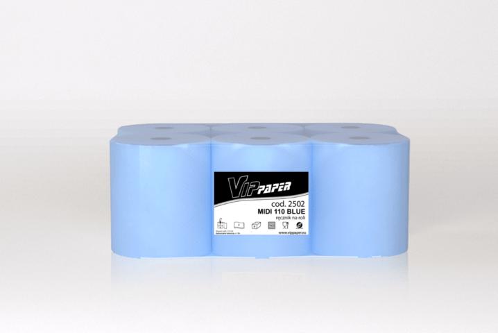 VIPpaper ręcznik papierowy w roli MIDI 110 BLUE V-2502
