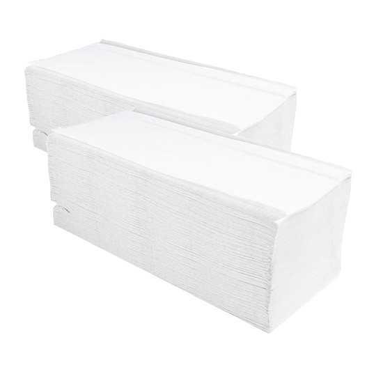 Ręczniki papierowe składane V-FOLD typu ZZ celuloza białe