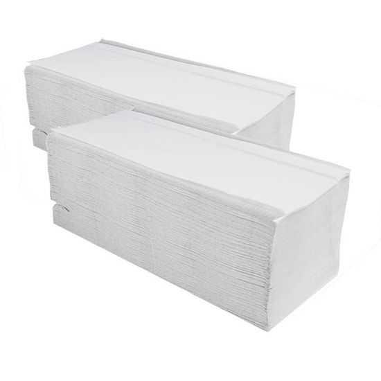 VIPpaper ZZ ULTRA BIAŁE ręczniki papierowe składane V-FOLD makulatura EKONOMICZNE V-2450