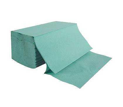 VIPpaper ZZ SOLID ZIELONE ręczniki papierowe składane V-FOLD makulatura ekonomiczna